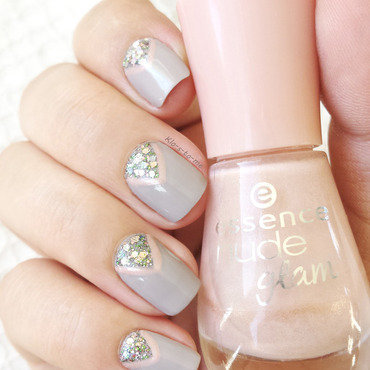 Soft Grey nail art by klo-s-to-me