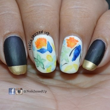 Inspired by a dress nail art by Divya Pandey