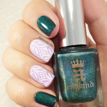 teal nail art by klo-s-to-me