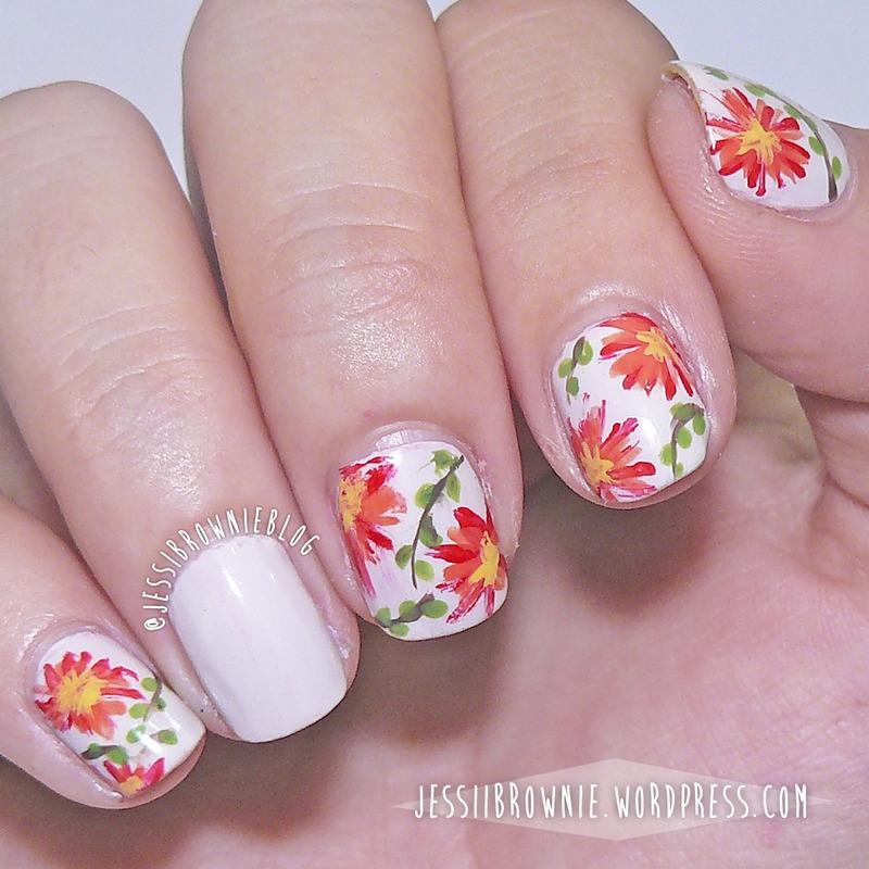 Garden Flowers nail art by Jessi Brownie (Jessi)