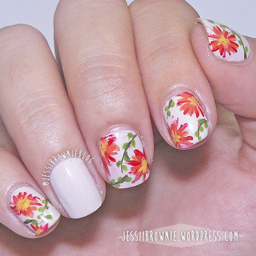Garden Flowers nail art by Jessi Brownie (Jessi)