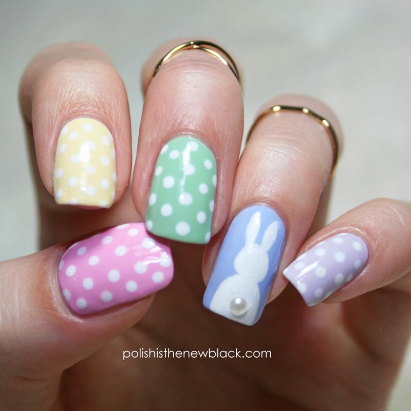 Easter Bunny Nails nail art by Polishisthenewblack