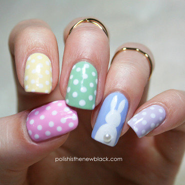 Easter Bunny Nails nail art by Polishisthenewblack