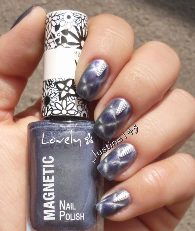 metallic nail art by Justine145