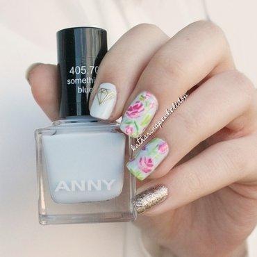 Pink Roses nail art by katharinapeskelidou