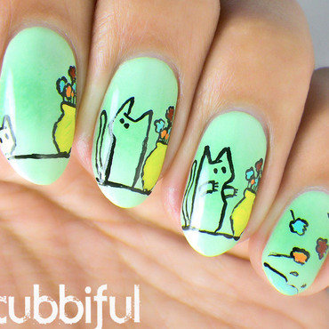 Cat nail art thumb370f