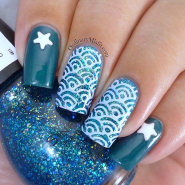 Oceany star nail art by Michelle