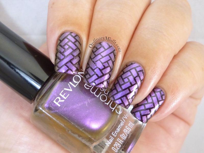 Duo bricks nail art by Michelle