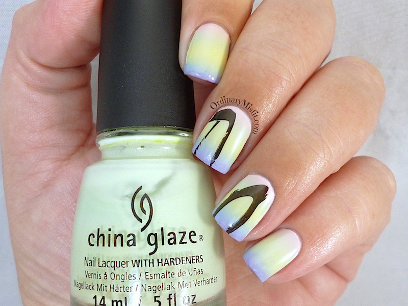 Easter gradient nail art by Michelle