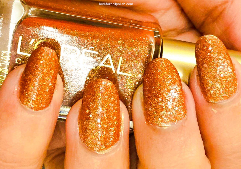 L'Oreal I Like it Chunky nail art by Demi