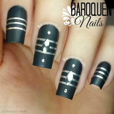 Silver Lining nail art by BaroquenNails