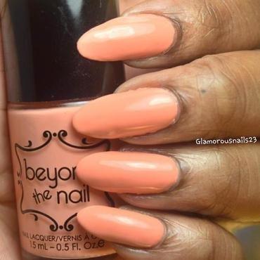 Beyond The Nail Spring Orange Creme Swatch by glamorousnails23