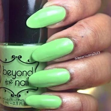 Beyond The Nail Spring Green Swatch by glamorousnails23