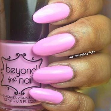 Beyond The Nail Spring Pink Creme Swatch by glamorousnails23