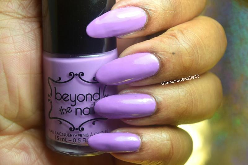 Beyond The Nail Spring Purple Creme Swatch by glamorousnails23