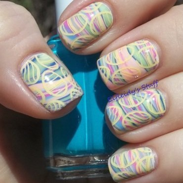 Easter eggs nail art by Jenette Maitland-Tomblin