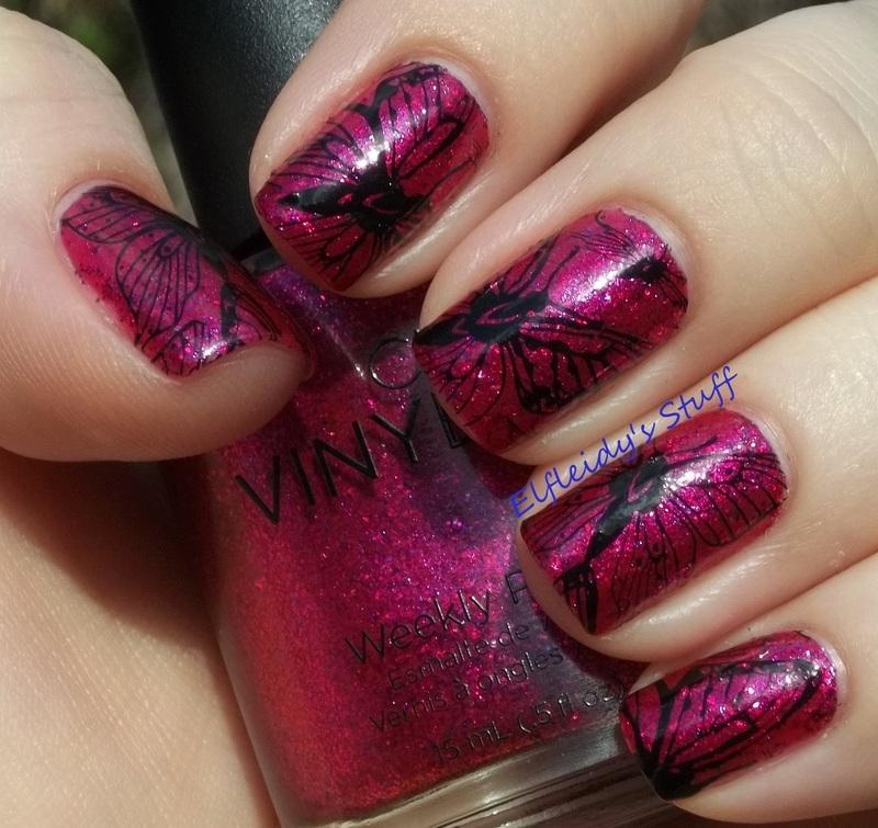 Butterfly Queen nail art by Jenette Maitland-Tomblin