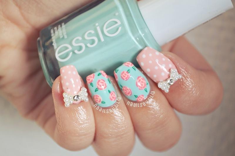Spring nail art by Julia