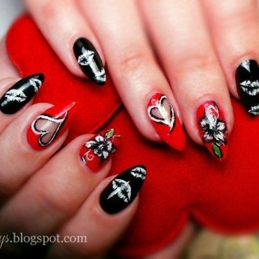 Valentine's Day  nail art by Agacys