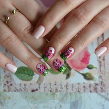 Spring is in the air #2 nail art by 9th Princess