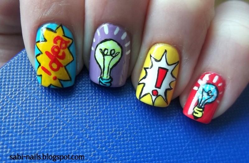 I have an idea... nail art by Sabina