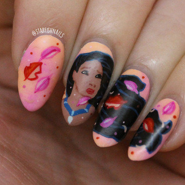Pocahontas nail art by Lisa Yabsley