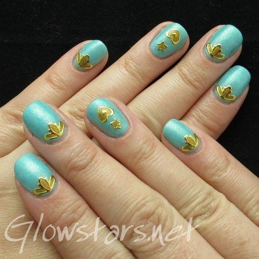 Featuring Born Pretty Store Gold Nail Art Stickers nail art by Vic 'Glowstars' Pires