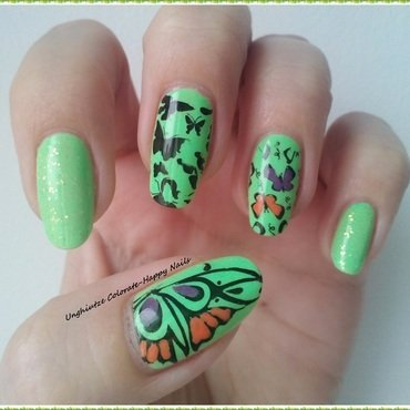 Spring is here nail art by Oana  Alexandru