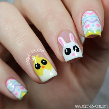 Mix & Match Easter Nails nail art by Erin