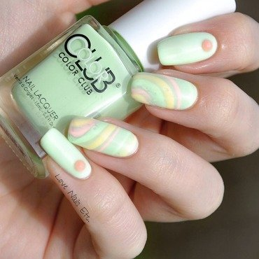 Pastel Color Mix nail art by Love Nails Etc