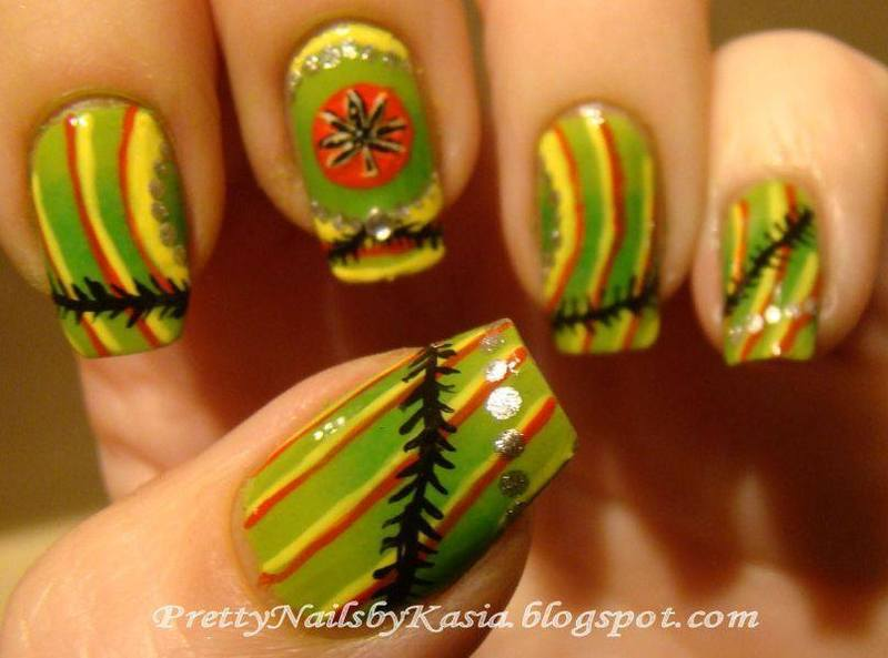 Jamaica nail art by Pretty Nails by Kasia
