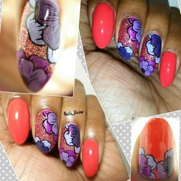 Rouge Bloomington nail art by Nails_Divine