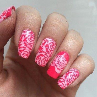 Funky roses nail art by Marissa Jansen