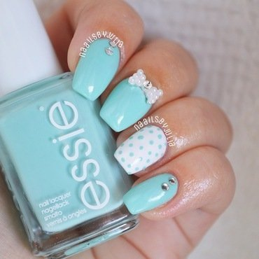 Essie Blanc and Essie Blossom Dandy Swatch by Julia
