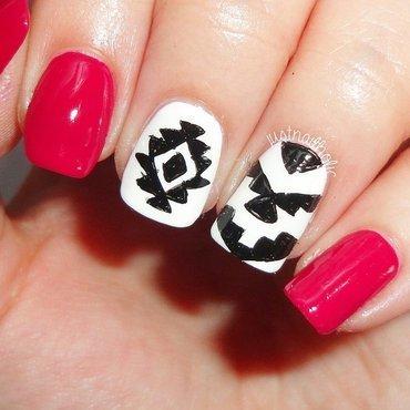 Aztec nail art by Melany Antelo
