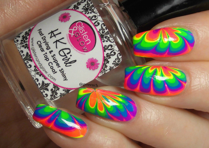 Water marble nail art by greeench