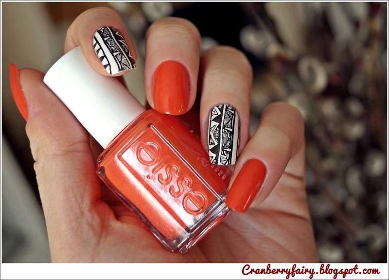 Aztec design! nail art by Cranberry Fairy