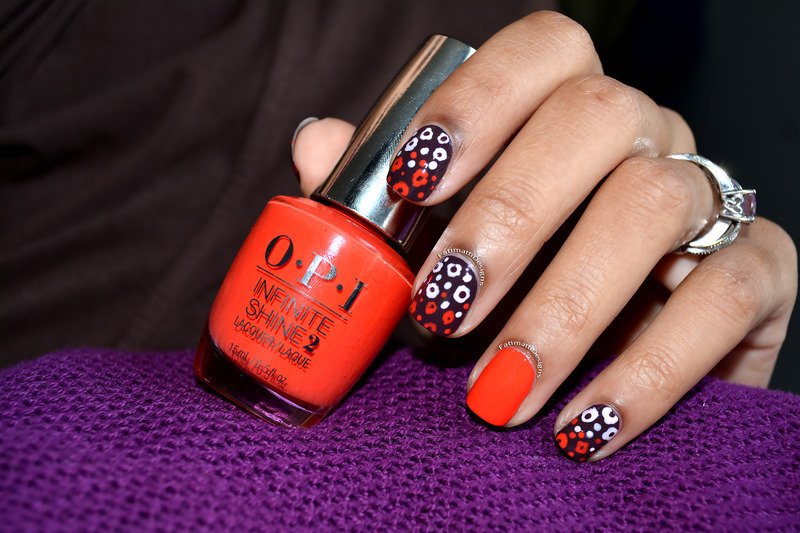 Poppies nail art by Fatimah