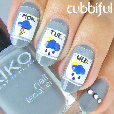 Weather Nails nail art by Cubbiful