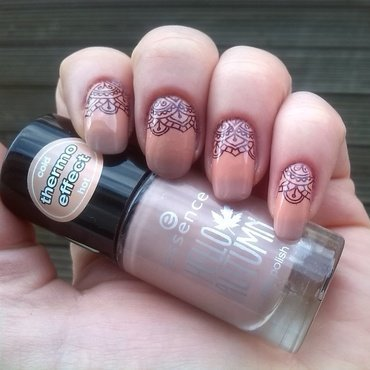 Thermo Polish with Halfmoon Stamping nail art by _annagemini
