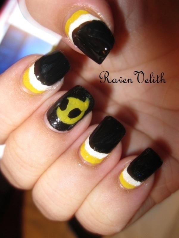 Team Dignitas nail art by Lynni V.
