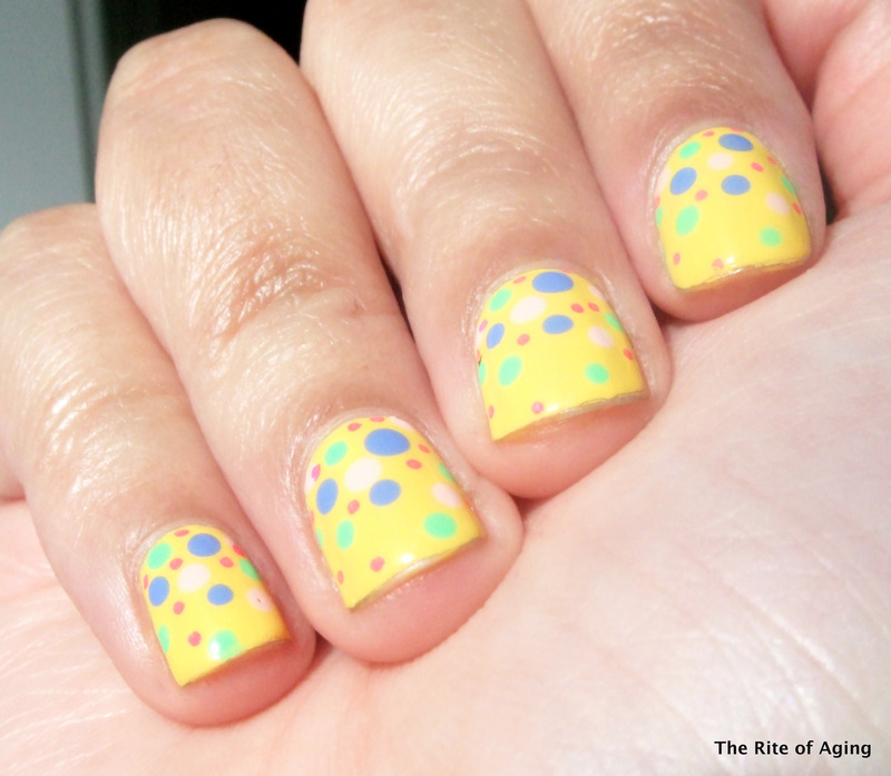Easter Dotticure nail art by Monica