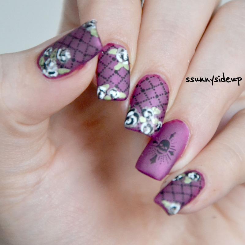 Rocking roses nail art by ssunnysideup (Sabrina)