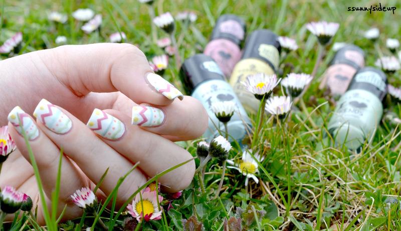 easter egg nails  nail art by ssunnysideup (Sabrina)