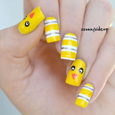 Chicken nails nail art by ssunnysideup (Sabrina)