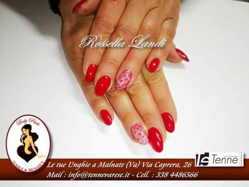 pizzo brillante nail art by Rossella Landi