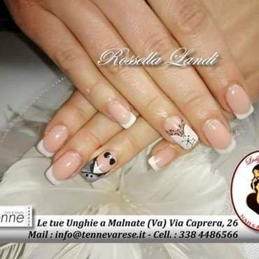 Just married nail art by Rossella Landi