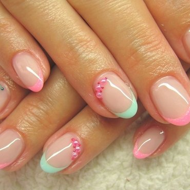Spring is around the corner! nail art by Boglarka Tornai
