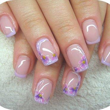 Lilac flower nail art by Boglarka Tornai