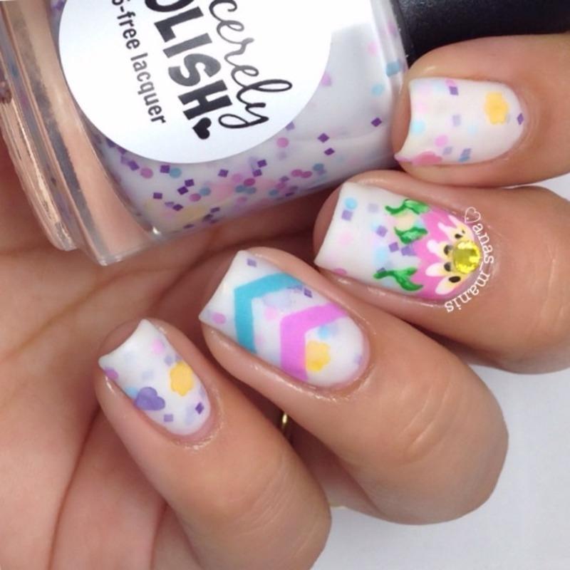Love in full bloom nail art by anas_manis